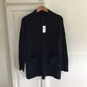 Ann Taylor Navy mock neck sweater